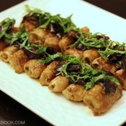 Ginger Pork Rolls with Eggplant