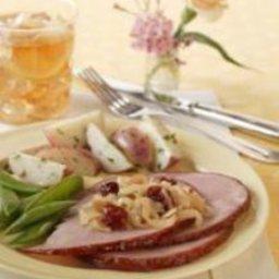 Glazed Ham with Dried Cherry Caramelized Onions