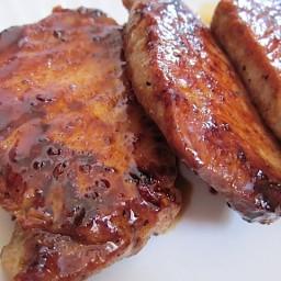 glazed pork chops