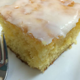 Glazed Lemon Jello Cake