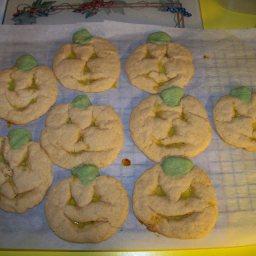 Glowing Jack-O-Lantern Cookies