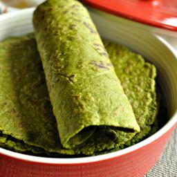 Gluten Free and Vegan Spinach Tortillas