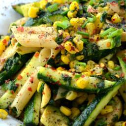 Gluten-Free and Vegan Zucchini and Corn Pasta Salad