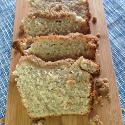Gluten Free Banana Bread with Crumb Topping