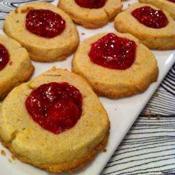 Gluten-free citrus-nut shortbread cookies