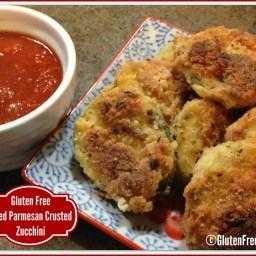 Gluten Free Fried Parmesan Crusted Zucchini