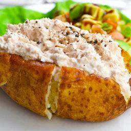 Gluten Free Horseradish Mushroom Baked Potatoes
