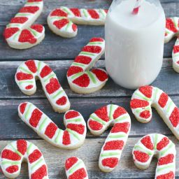 Gluten-Free Peppermint Candy Cane Sugar Cookies