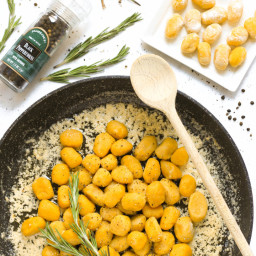 Gluten-free Pumpkin Gnocchi with Rosemary Brown Butter Sauce