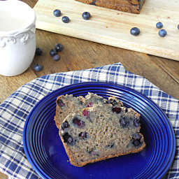 Gluten Free Sugar-Free Blueberry Banana Bread