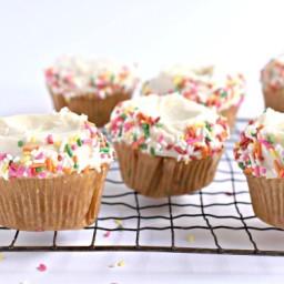 Gluten Free Vegan Funfetti Cupcakes