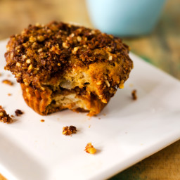 Gluten Free Walnut Pear Coffee Cake Muffins