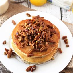 Gluten Free Lemon Pecan Pancakes