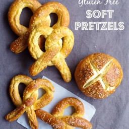 Gluten Free Soft Pretzels (or Pretzel Buns!)