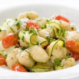 Gnocchi with Zucchini Ribbons  and  Parsley Brown Butter