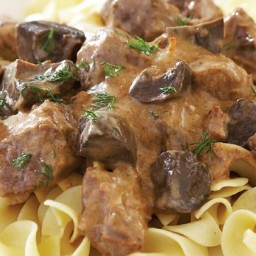 Go for gold with slow-cooker beef stroganoff