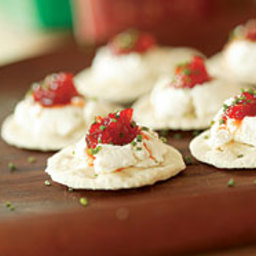 Goat Cheese Crackers with Hot Pepper Jelly