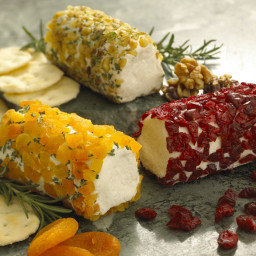 Goat Cheese Log Rolled in Dried Apricot & Rosemary