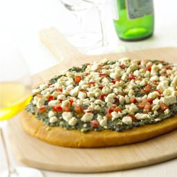 Goat Cheese Pesto Pizza