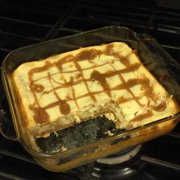 Golden Caramel Cheesecake Bars