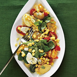 Golden Corn Salad with Fresh Basil