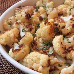 Golden Roasted Cauliflower with Pecorino Romano Cheese