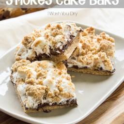 Gooey S'mores Cake Bars