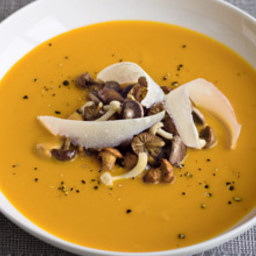 Gordon Ramsay's pumpkin soup with wild mushrooms