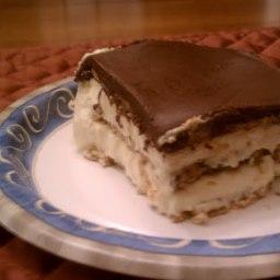 Graham Cracker Chocolate Eclairs