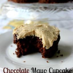 Grandma's Chocolate Mayo Cake and Caramel Frosting
