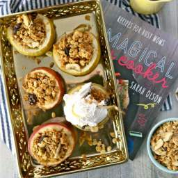 Granola Baked Apples {The Magical Slow Cooker Cookbook Review!}