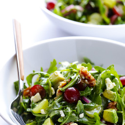 Grape, Avocado and Arugula Salad