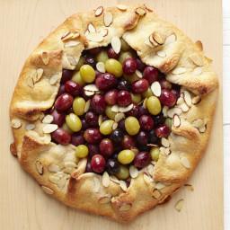 Grape Galette with Almond Cream