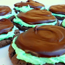 Grasshopper Chocolate Mint Cake Mix Cookies
