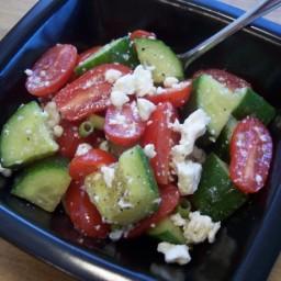 Greek Cucumber Summer Salad