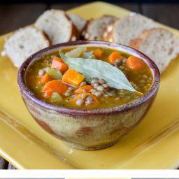 Greek Lentil Soup- Fakes
