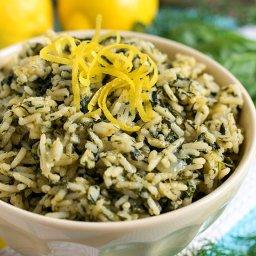 Greek Rice (Spanakorizo)