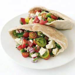 Greek Salad Pita Sandwiches