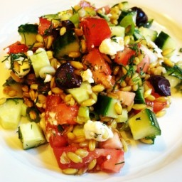 Greek Style Farro Salad