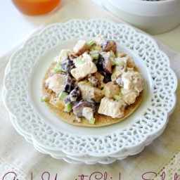 Greek Yogurt Chicken Salad with Grapes and Pecans