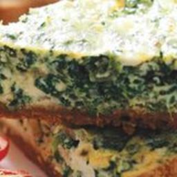 Greek Spinach Feta Quiche