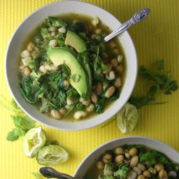 Green and White Chili Bowl