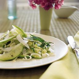Green Apple, Ginger, Sweet Vidalia, and Coconut Salad