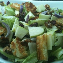 Green Apple with Caramelized Walnut Salad