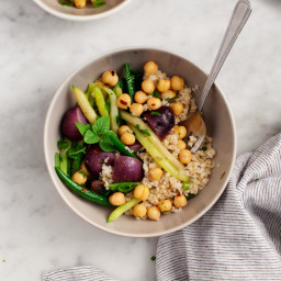 Green Bean and Purple Potato Salad