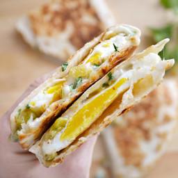 Green Chile Breakfast Quesadillas