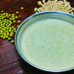 Green Gram Wheat Porridge Powder Recipe