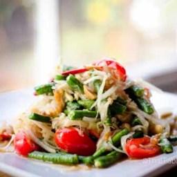 Green Papaya Salad - Som Tum ส้มตำ