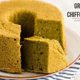 Green Tea Chiffon Cake