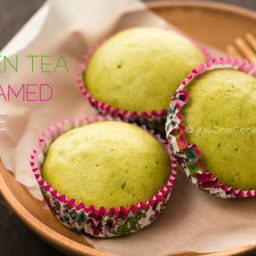 Green Tea Steamed Cake Recipe